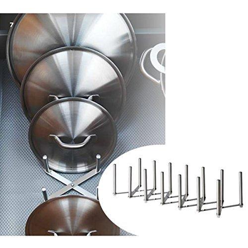 New Ikea Variera Pot Lid Organizer Stainless Steel Multi-use Adjustable length1