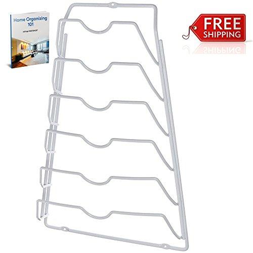 Pot Lid Organizer Rack Door Mounted Top Holder Storage White Best Kitchen Organizing Storing And eBook By NAKSHOP
