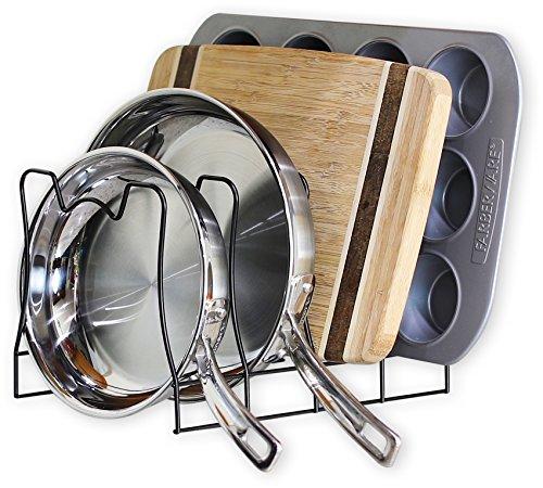 SimpleHouseware Kitchen Pan and Pot Lid Organizer Rack holder Bronze