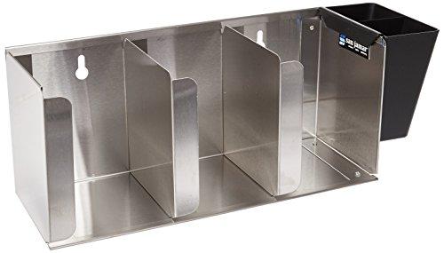 San Jamar L1014 Stainless Steel Adjustable Lid Organizer 17-18 Width x 6-12 Height x 5-18 Depth 3 Stack Capacity