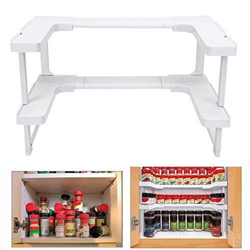 Spicy Spice Shelf Rack 2 Layer Pantry Pan Pot Organizer Kitchen Kitchen Storage Cabinet Cupboard