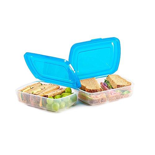 Mr Lid Premium Food Storage Container Sandwich 19oz 2 Count