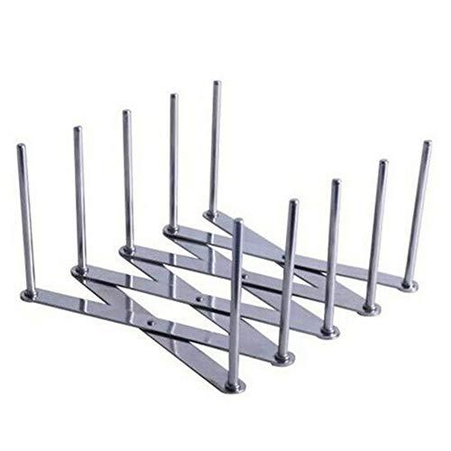 Kiode Stainless Steel Multi-Function Pot Pan Lid RackAdjustable Steaming Rack Tools Used as a Storage RacklidPlate