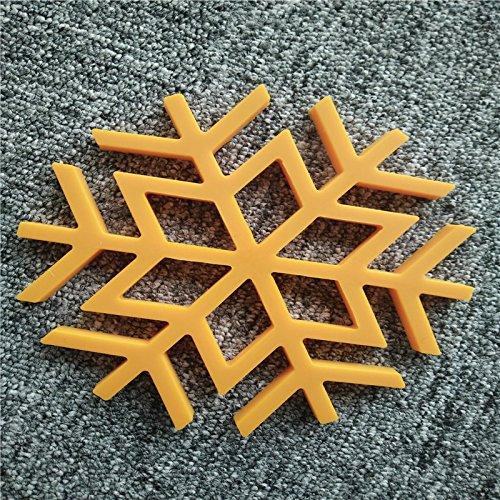 ShopanticTM 1PC New SnowFlake Silicone Kitchen Trivet Pot Pan Holder Mat Heat Non-slip Resistant