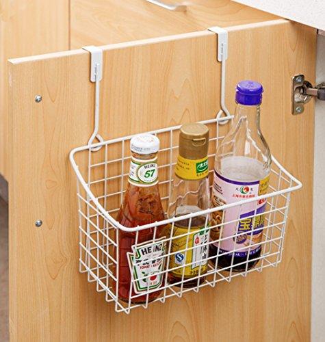 Home-organizer Tech Over The Cabinet Drawer Bathroom Door Grid Basket Cabinet Organizer Holder Bathroom Kitchen Storage Organizer Basket