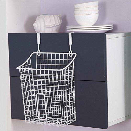Home-organizer Tech Over The Cabinet Drawer Bathroom Door Grid Basket Cabinet Organizer Holder Bathroom Kitchen Storage Organizer Basket White