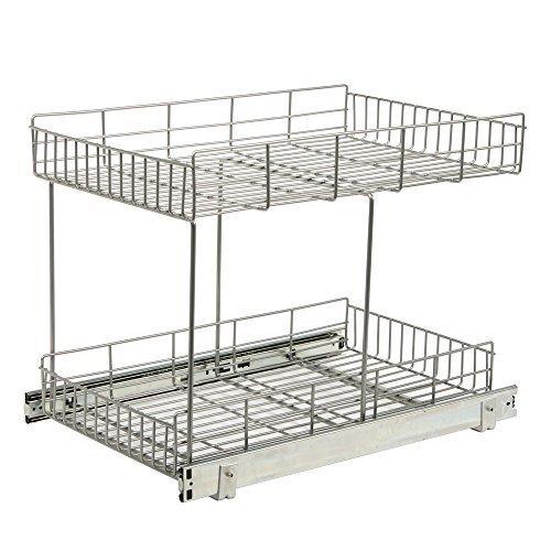 Knape Vogt HSR15-R-FN Half-Shelf Pull Out Basket Cabinet Organizer 22875-Inch by 1544-Inch by 17562-Inch by Knape Vogt