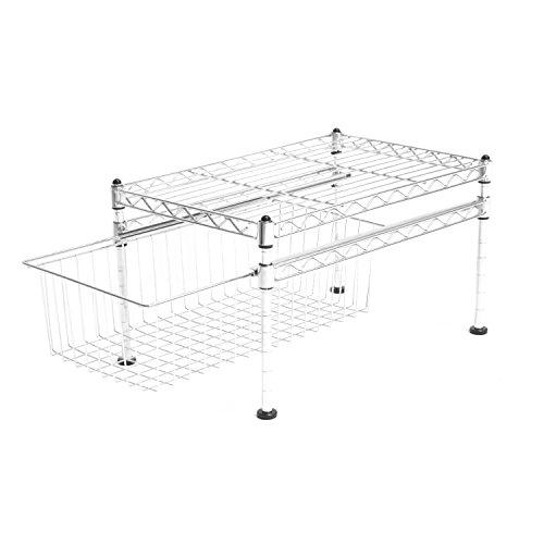 Seville Classics Single Basket Cabinet Organizer 175 D x 115 W x 10 H