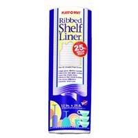 Warp Bros PM125C Plast-O-Mat Ribbed Shelf Liner 12-Inch x 25 ft white