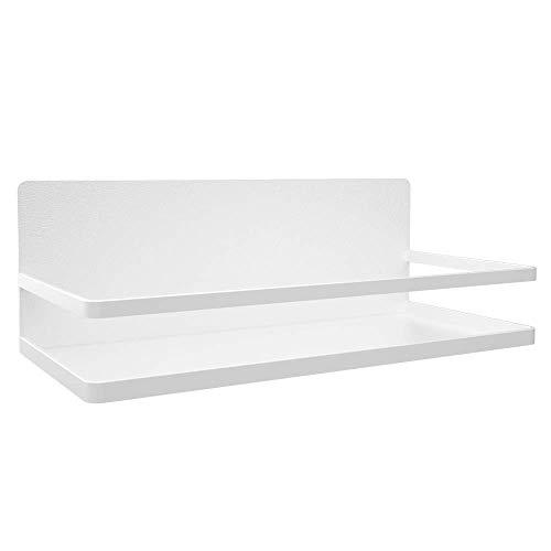 YIGATION Magnetic Spice Rack Shelf for RefrigeratorSpice Storage Fridge Shelf for Kitchen OrganizerEasy to Use White