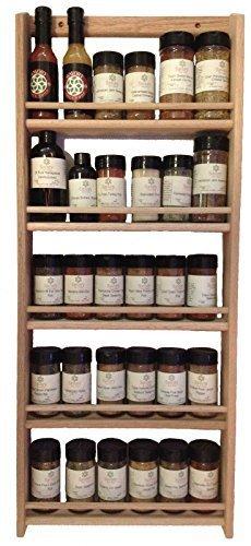 Solid OAK Wood Spice Rack  3275H x 1375 W  Wall Mount Wooden Spice Rack by kwanchan
