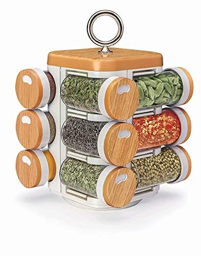 Multipurpose Revolving Spice Rack 12 Piece Condiment SetPlastic12 BottlesValentine Day Gifts
