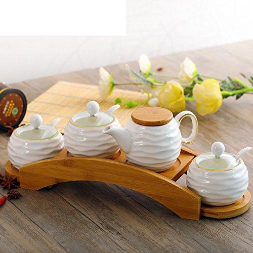 ceramic Spice jar European-style minimalist kitchenSpice jars set of fourWater ball salt shaker-M