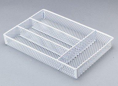 Homz Handy Organizer Tray Steel 14-12 L X 10-14 W X 2 H White