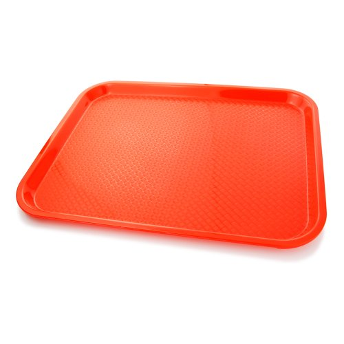 New Star Foodservice 24845 Fast Food Tray 14-Inch by 18-Inch Set of 12 Red