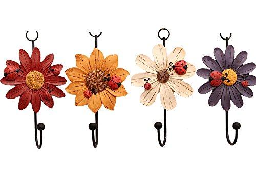 Black Floral Hook Shabby Floral Ceramic Hook Wall Coat Hook SALE!!