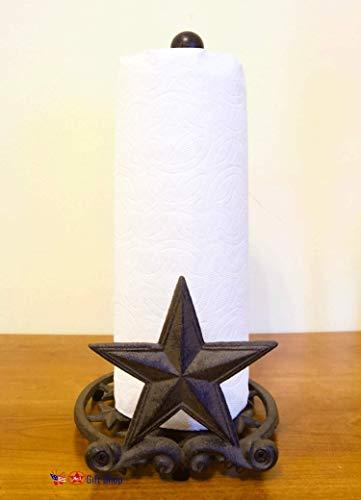 Metal Star Country Rustic Paper Towel Holder