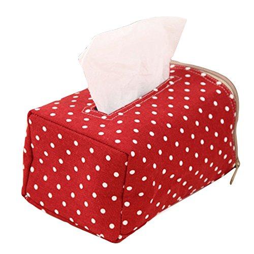 Elegant libra Fabric Creative Container Wave point Tissue Box Home Tissue Box Holder Cover Napkin Storage Case Holder