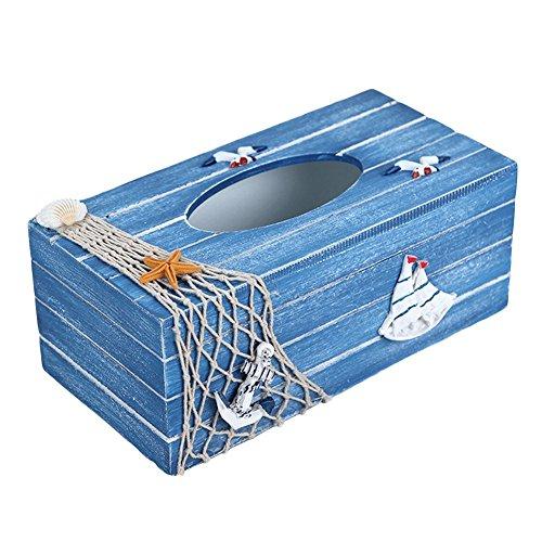 Elegant libra Mediterranean Style Wooden Tissue Box Tissue Dispense Tissue Box Cover Holder Kitchen Napkin Storage CaseHolder Desktop Wood Tissue Box Organizer