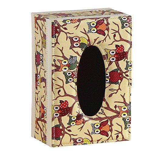 Elehant libra PU Leather European Home Tissue Box Holder Cover Napkin Storage CaseHolder Desktop Organizer