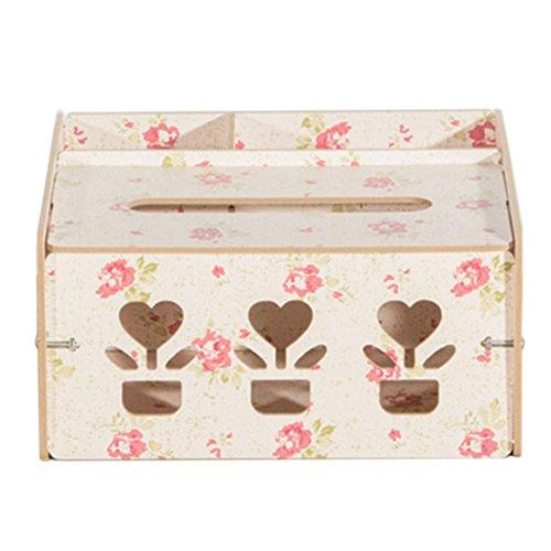 Jiyaru Tissue Holder Car Paper Box Cover Case Home Office Napkin Storage Dispenser Pink