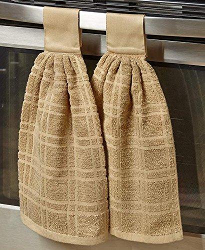 Set of 2 Hanging Kitchen Towels Sand