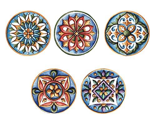 Real Art  Arabic Patterns  Hanging Plates  5 pcs 7 Plate Set