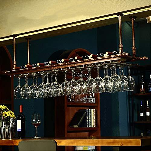 Wine Glass Holder European Creative Hanging Wine Glass Rack Wine Glass Hanger Wine Glass Upside Down Goblet Wine Rack Bar Hanging Cup Holder Wine Glass Rack Color  Red Size  60x30cm