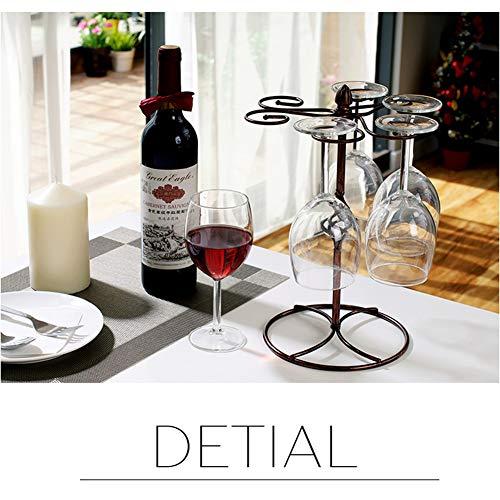 Classic Elegant Metal Tabletop 6 Wine Glass Display Holder Drying Rack StandStorage Rack