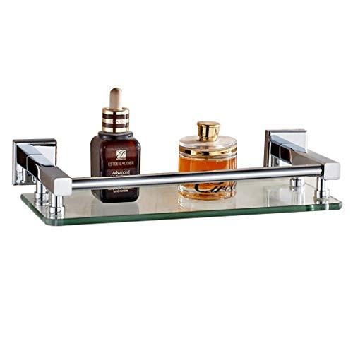 Lotion Soap Dispenser Bathroom Shelf Vanity Single Wall Hanging Corridor Glass Storage Rack Load Capacity 15kg Color Silver Size 14 315 cm