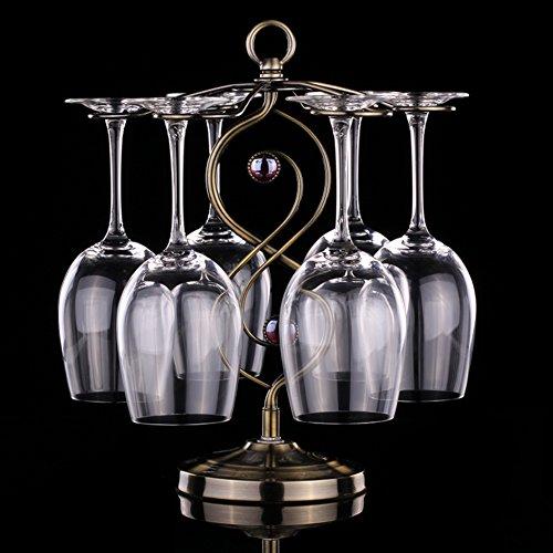 European-style red wine glass rack hanging stemware rack stainless steel wine glass rack-B