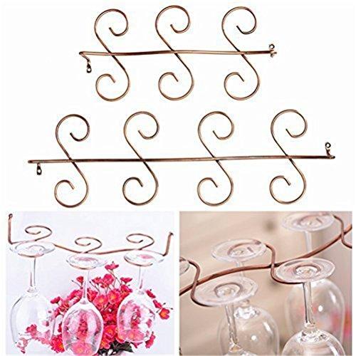 Pinovk Retro Wine Glass Rack Hanging Holder Bar Goblet Hanging Rack6