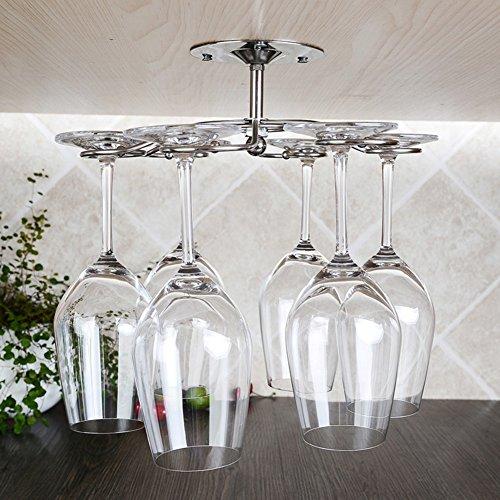 Stainless steel rotating wine glass rack hanging stemware rackEuropean ideas of red wine glass rack