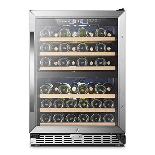 24 Inch 44 Bottles Sinoartizan Built-in Dual Zone Wine Refrigerator Cooler