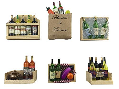 Fridge Magnets Wine Bottles Series Refrigerator MagnetsSet of 6 Door Magnets Wall Magnets