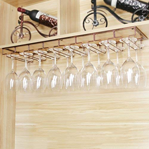 Nclon Stemware racks Upside down hanging cup Wine cup rack Stainless steel Wine glass rack Champagne-8 Row-copper 80225cm