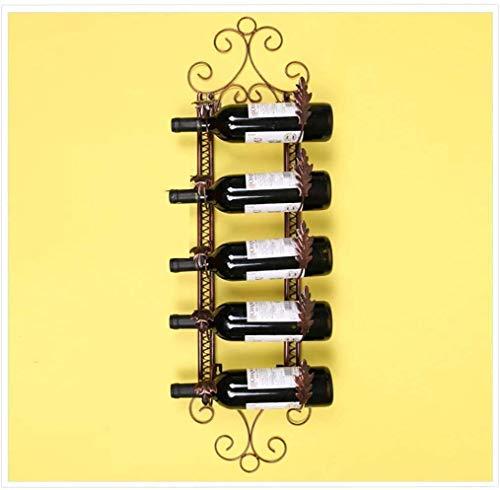 European Wine Rack Iron Hanging Wall Hanger Home Bar Fashion Simple Wine Glass Rack Hanging European Hanging Wine Glass Hanging Glass Rack Storage Color  B