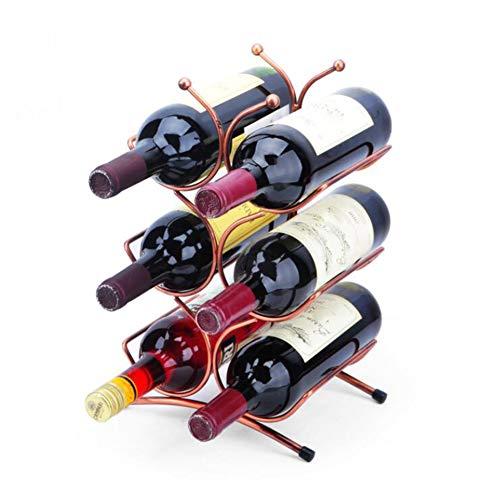 YOUZHI Creative Simple Wine Rack European Wine Rack Home Decoration Bar Restaurant Red Wine Display Stand( 35cm 21cm 15cm)