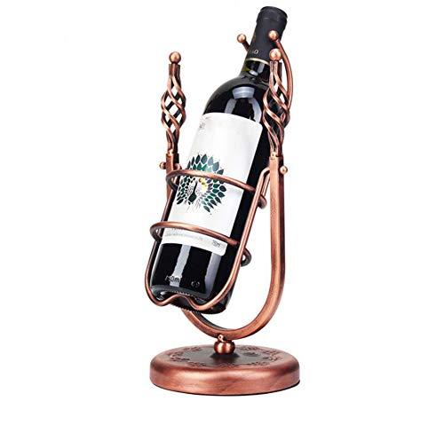 YOUZHI European Creative Wine Rack 360 ° Rotating Home Personalized Wine Bottle Rack Decoration Bar Restaurant Red Wine Display Stand
