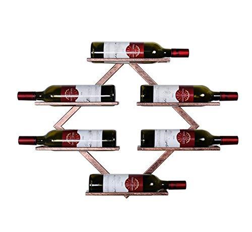 YOUZHI Wine Rack Wall-Mounted Creative Wine Bottle Rack Modern Minimalist Living Room Bedroom Wine Rack Bar Restaurant Red Wine Display Stand