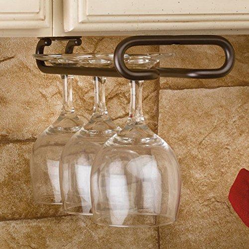 16 Hanging Wine Glass Rack Wine Bottle Rack Oil Rubbed Bronze