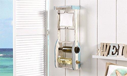 Wooden Oar Design Hanging Wine Bottle Rack Wall Mounted
