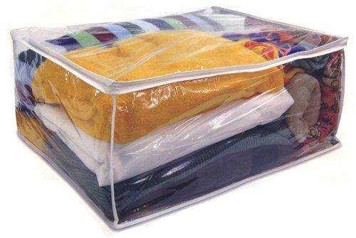 Heavy Duty Vinyl Blanket Storage Bag Jumbo Clothes Bag 11x25x21