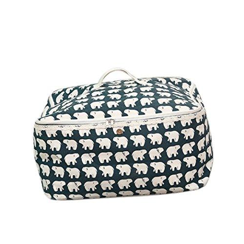 Transer Foldable Storage Bag Clothes Blanket Quilt Closet Sweater Organizer Box Pouches B