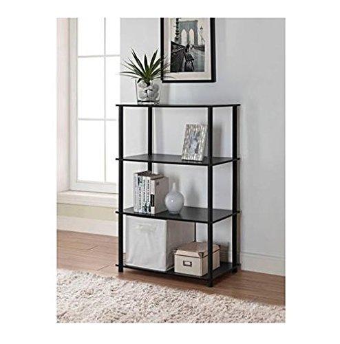 Mainstays No Tools 6-Cube Storage Shelf Black Oak