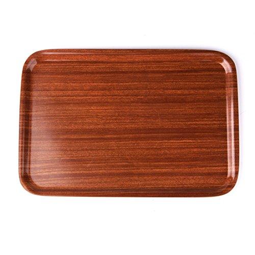 SANNIX Wood Serving Tray Home Kitchen Rectangular Tableware Storage Fruit Holder L