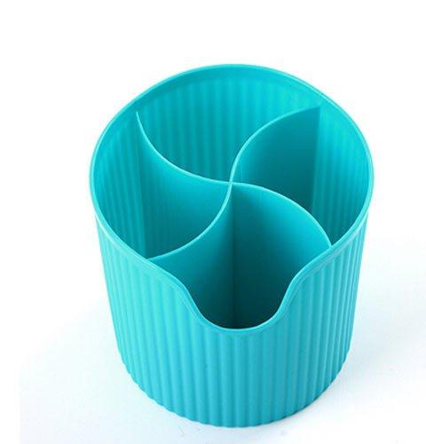 uzoho Kitchen Organizer Storage Box Tableware Storage Leachate Box Cutlery Chopstick Spoon Holder Blue