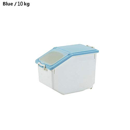 10KG22lb Rice Storage Container Airtight Food Container Sealed Cereal Grain Organizer with Wheels for KitchenAbout 50 Cup