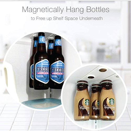 SAVE PRICES Magnetic Beer Bottle Hanger and Holder for Fridge Magnet - Extra Strong - Great Gift - For Jar Cans and Containers with Metal Lids and Tops 4