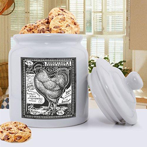 Personalized Ceramic Vintage Rooster Cookie Jar